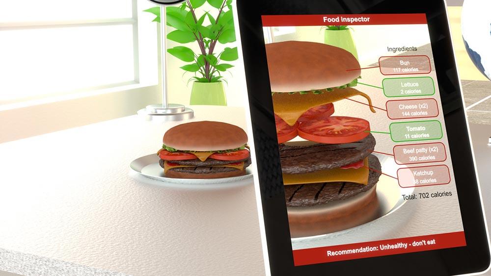 realta aumentata food games