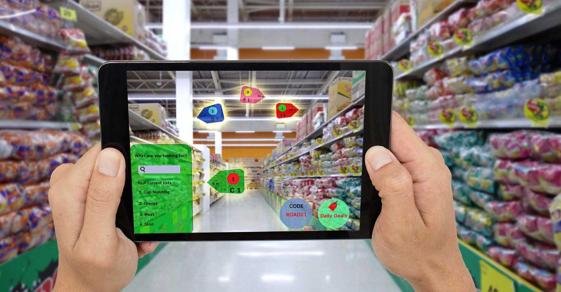 App realtà aumentata supermercato