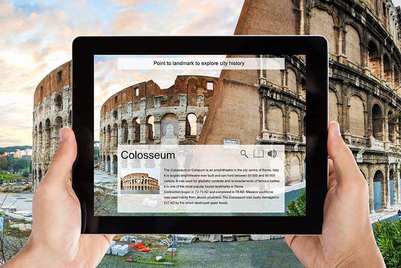 App realtà aumentata per il turismo
